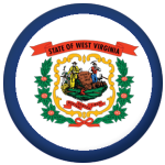 West Virginia State Flag 58mm Mirror Keyring
